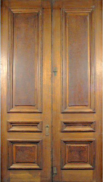 83.6416 Pair of American Victorian Walnut & Burl Doors