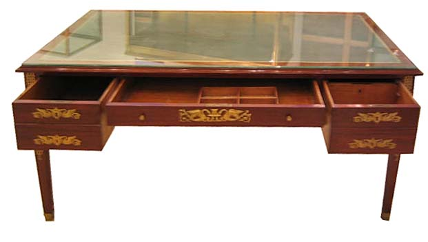 08.6426 French Empire Desk with Bronze Trim