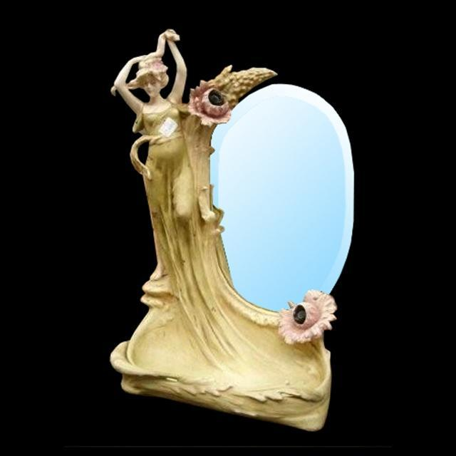 7064 Art Noveau Lady Mirror