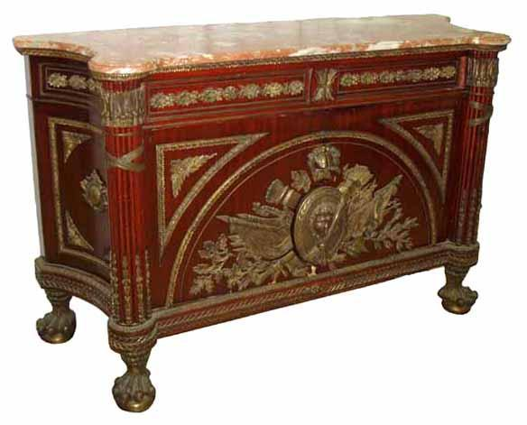 28.6458 19th C. French Marble Top Commode