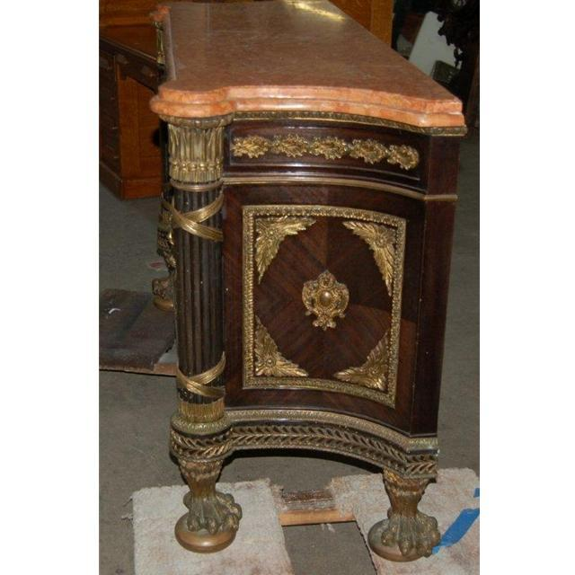 7559 19th C. Louis XVI French Empire Marble-Top Cabinet