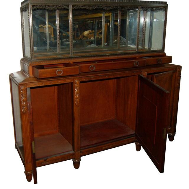 21.1811 Fantastic Art Deco Aquarium & Cabinet c. 1920