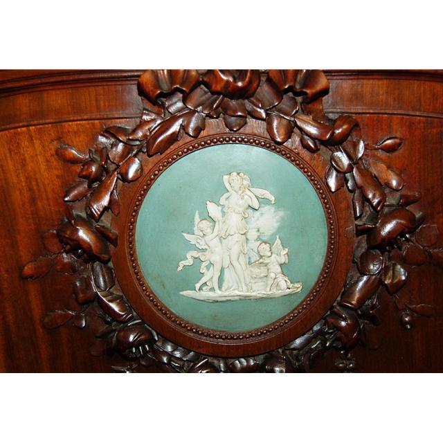 24.5797 Antique French Cabinet with Wedgwood Plaques