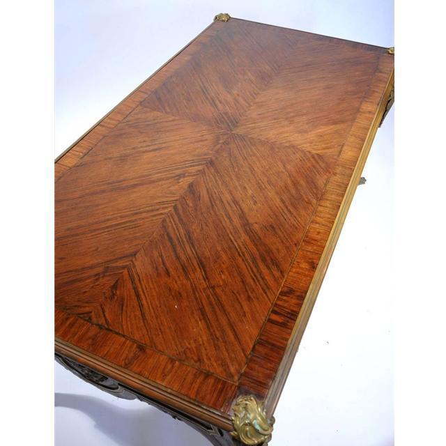 7707 Late 19th C. Antique French Rosewood Bureau Plat Desk