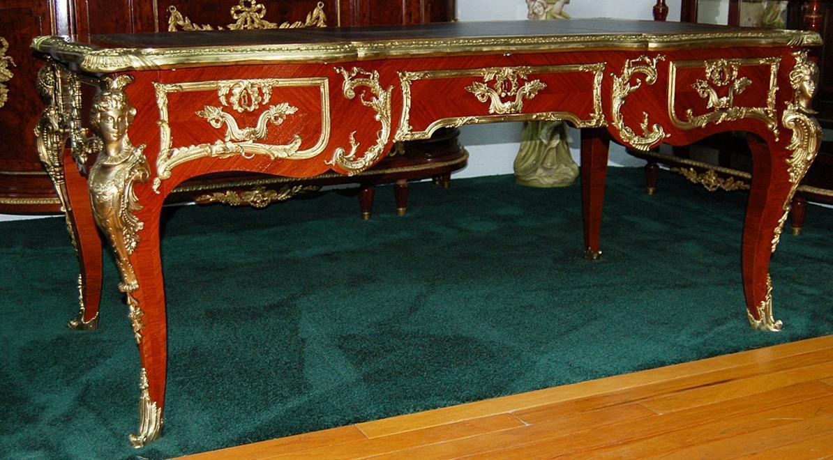 7718 French Rosewood Bureau Plat Desk c. 1890