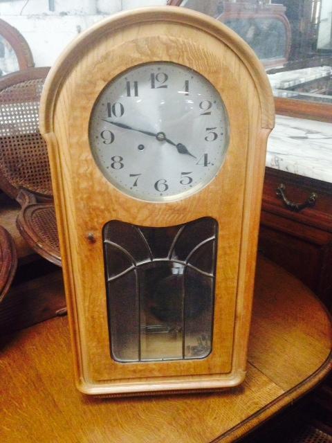 63.6629 Walnut & Burl Antique Wall Clock