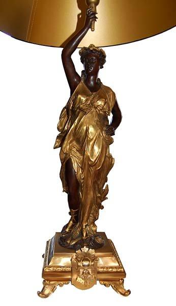 56.6654 Pair of Figural Bronze Lamps