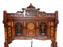 49.4427 2-Pc. Aesthetic Movement Walnut Kingsize Bedset Stamped  G. Hertery New York
