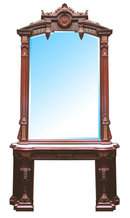 72.4878 Victorian Mantel and Over Mirror