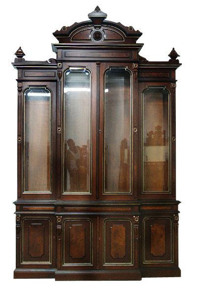 24.5064 19th C. American Renaissance Revival 4 Door Bookcase