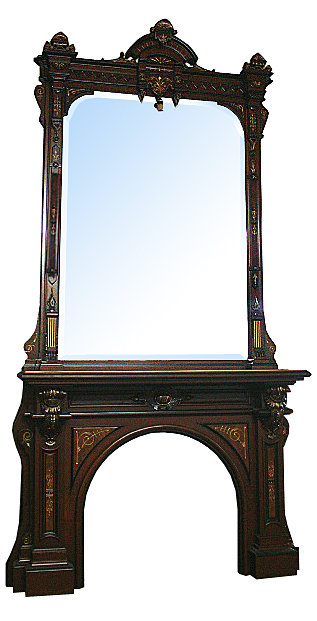 72.5812 Renaissance Revival Mantel & Over Mirror