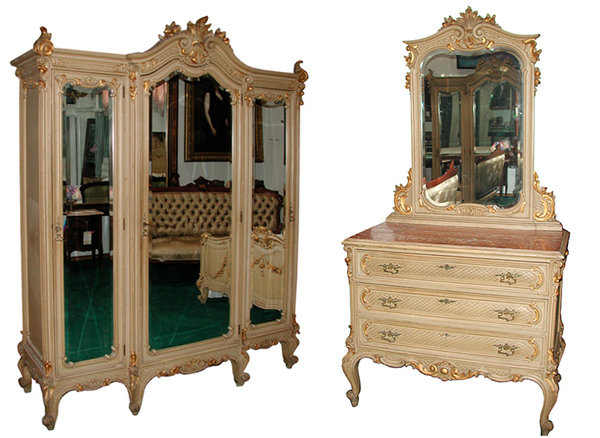 51.5009B  9-Pc. French Painted Bedroom Set c. 1890