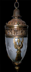 6782 19th. C. French Empire Cast Bronze Hall Fixture