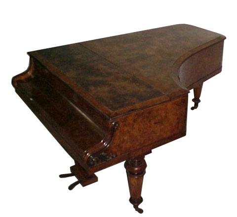 79.1586 Antique Collard & Collard Burl Wood Art Case 6'7