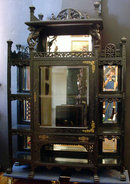38.6925 Antique American Eastlake Etagere with Griffins