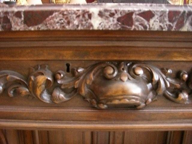 Carved Console with Marble Top