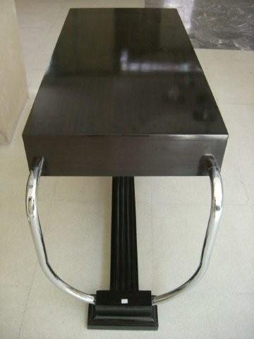7067 Art Deco Table/Desk with Chrome Handles