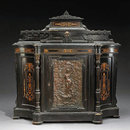 7172 Revival Parcel Ebonized, Marquetry & Bronze Mounted Cabinet