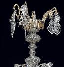 7173 Gothic Revival Gilt Bronze, Iron & Glass 12-Light Chandelier