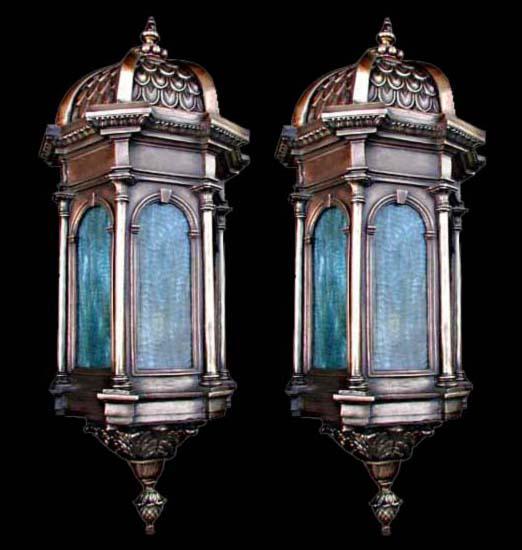 60.5002 Pair of 19th C. Bronze Lanterns