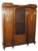 25.5068 French Empire Style 3-Door Bookcase