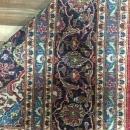Vintage Handmade Kashan Red Wool Oriental Rug 9'3 x 13'