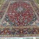 Vintage Handmade Kashan Red Wool Oriental Rug 7'9 x 11'2