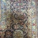 Vintage Handmade Very Fine Kashan Navy Wool Oriental Rug 8'9 x 13'8