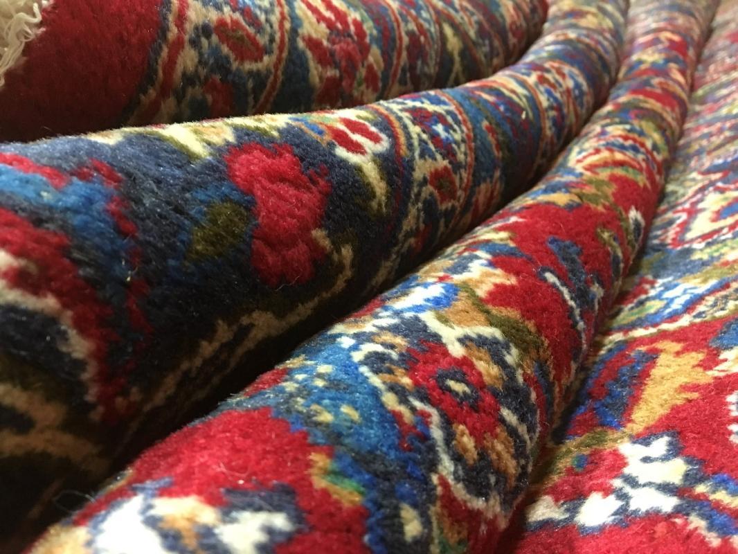 Vintage Handmade Kashan Blue Wool Oriental Rug 9'4 x 12'6