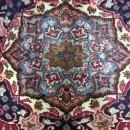 Vintage Handmade Kashan Blue Wool Oriental Rug 6'5 x 9'5