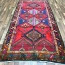 Handmade Vintage Persian Hamadan Red Oriental Runner 4'9 x 10'6