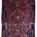 Vintage Persian Hamadan Red Oriental Runner 5'7 x 10'10