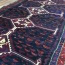 Vintage Persian Hamadan Blue & Red Oriental Runner 5' x 9'