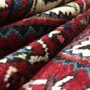 Handmade Vintage Hamadan Beige Wool Runner Rug 4'9 x 10'
