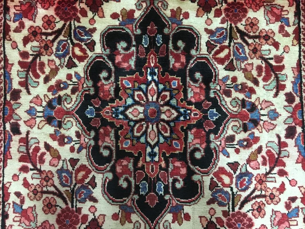 Handmade Vintage Persian Hamadan Oriental Area Rug 4'11 x 8'6