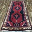 Handmade Vintage Persian Hamadan Red Oriental Runner 4'1 x 9'7