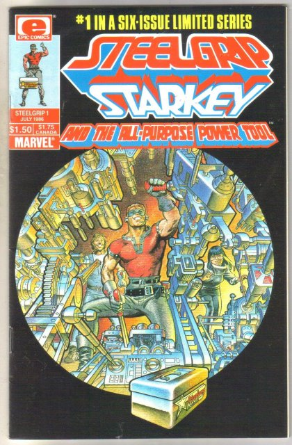 Steelgrip Starkey #1 comic book near mint 9.4