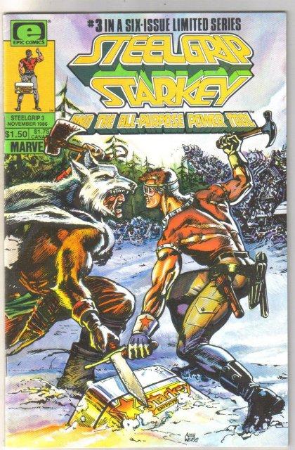 Steelgrip Starkey #3 comic book near mint 9.4