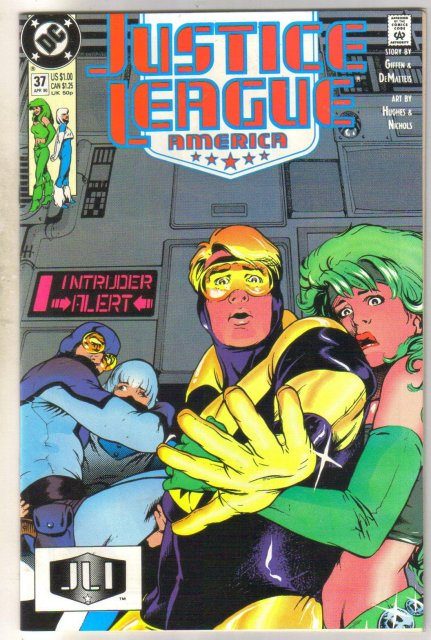 Justice League America #37 comic book near mint 9.4