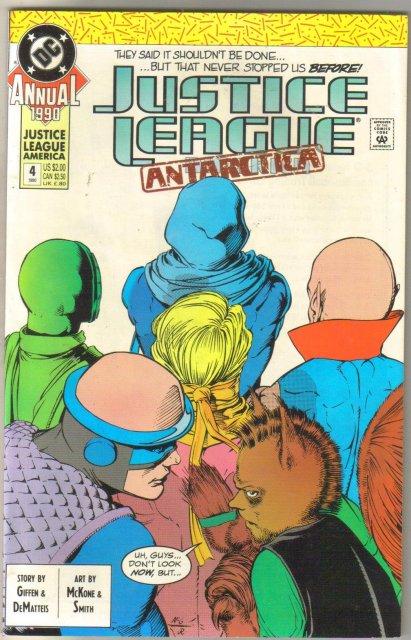 Justice League America Annual #4 comic book near mint 9.4