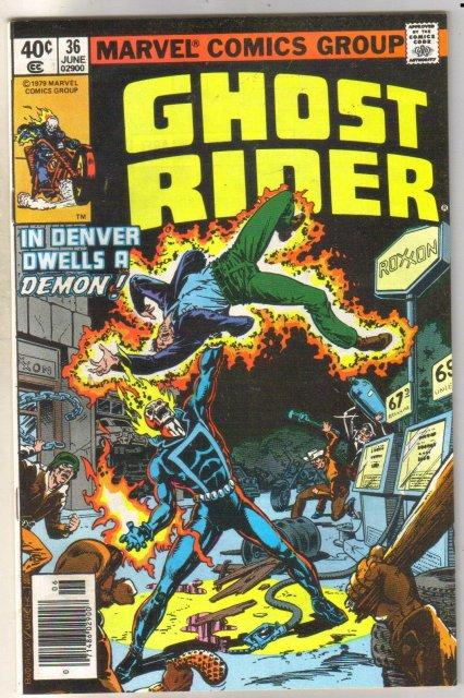 Ghost Rider #36 comic book very fine/near mint 9.0