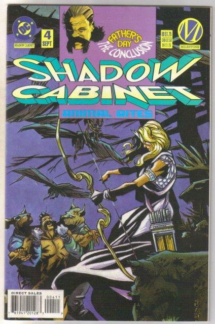 Shadow Cabinet #4 comic book near mint 9.4