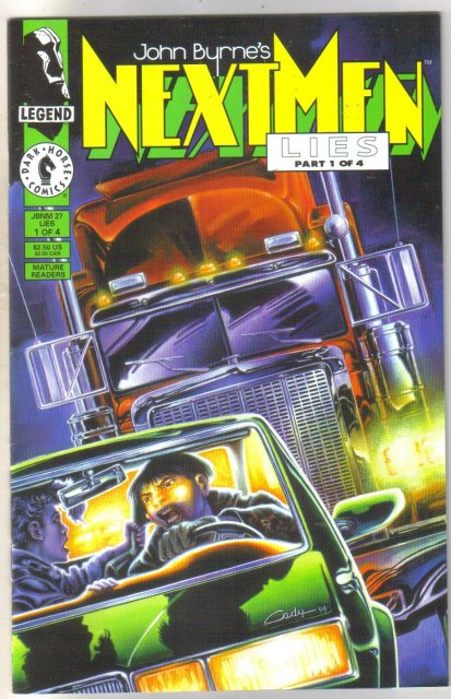 John Byrne's Next Men Lies #1 comic book near mint 9.4