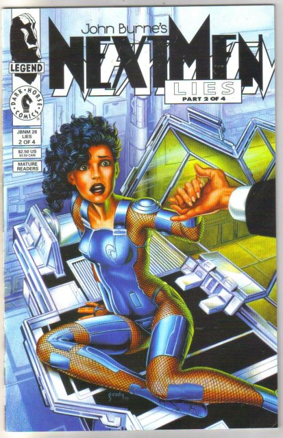 John Byrne's Next Men #2 comic book near mint 9.4