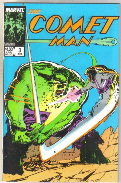 Comet Man #3 comic book near mint 9.4