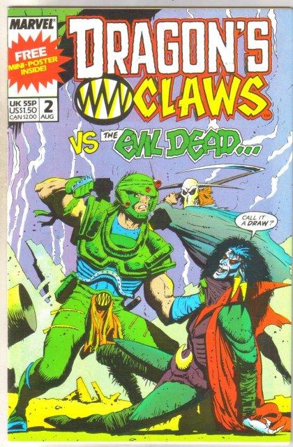 Dragon's Claws #2 comic book near mint 9.4