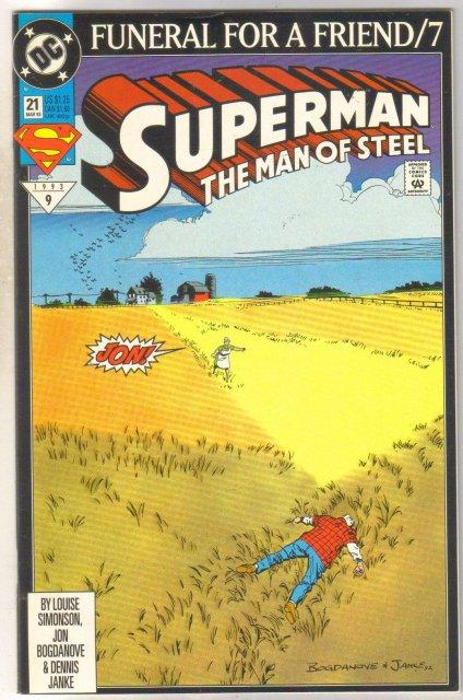 Superman The Man of Steel #21 comic book near mint 9.4