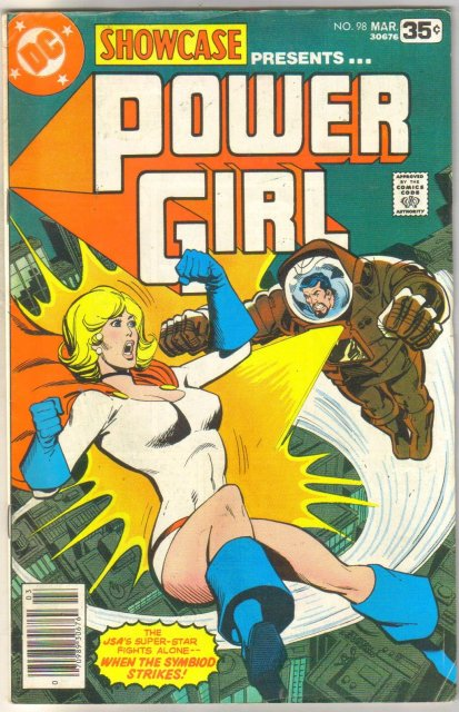 Showcase presents Power Girl #98 comic book very good 4.0
