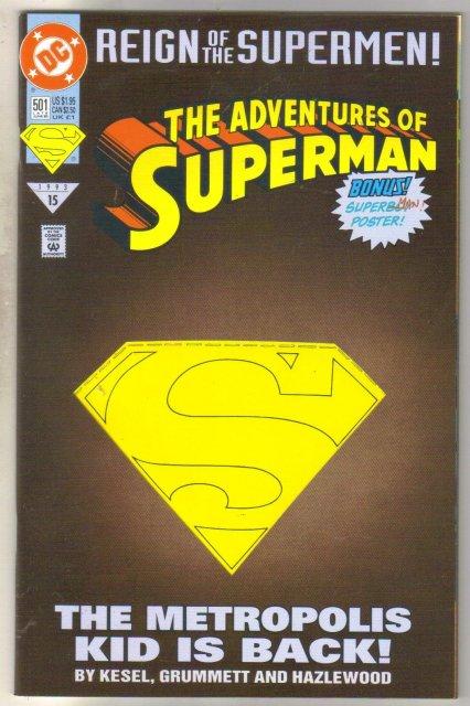 Adventures of Superman #501 comic book  mint 9.8