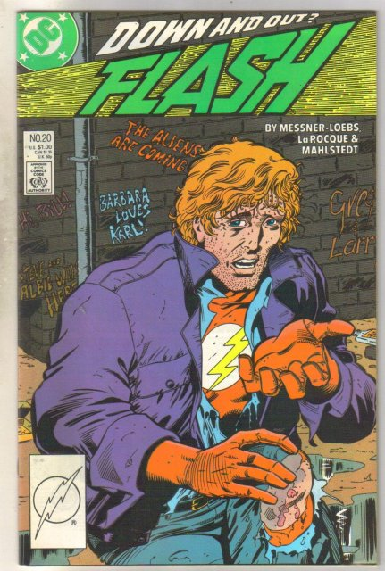 Flash #20 comic book near mint 9.4
